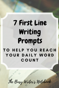 First Line Writing Prompts