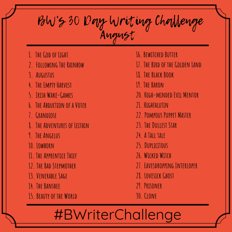 The Busy Writer 30 Day Writing Challenge: August