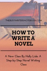 How to Write a Novel Class