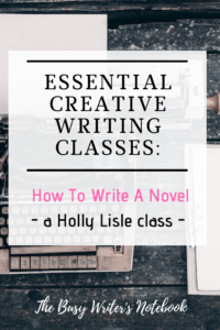 How to Write a Novel Class
